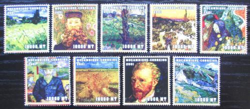 Poštovní známky Mosambik 2001 Umìní, Vincent van Gogh Mi# 2043-51 Kat 11.50€