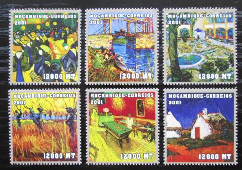 Poštovní známky Mosambik 2001 Umìní, Vincent van Gogh Mi# 2103-08 Kat 11.50€