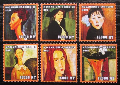 Poštovní známky Mosambik 2001 Umìní, Modigliani Mi# 2133-38 Kat 11.50€