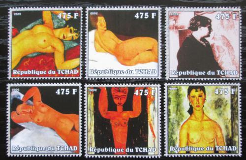 Poštovní známky Èad 2002 Umìní, Amadeo Modigliani Mi# 2364-69 Kat 13€