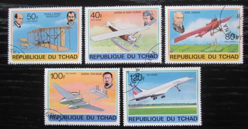 Poštovní známky Èad 1978 Rozvoj letectví Mi# 823-27