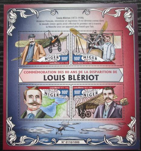 Poštovní známky Niger 2016 Louis Blériot Mi# 4032-35 Kat 14€