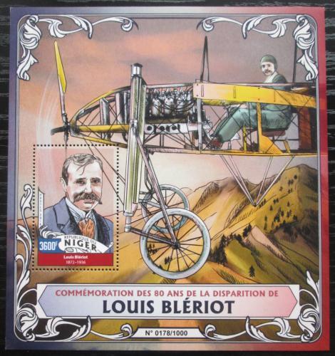 Poštovní známka Niger 2016 Louis Blériot Mi# Block 511 Kat 14€