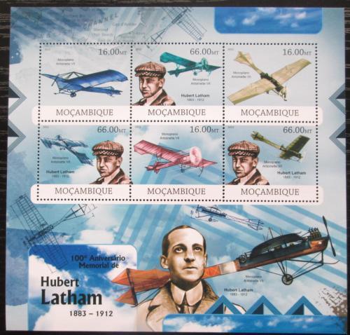 Poštovní známky Mosambik 2012 Hubert Latham Mi# 5923-28 Kat 14€
