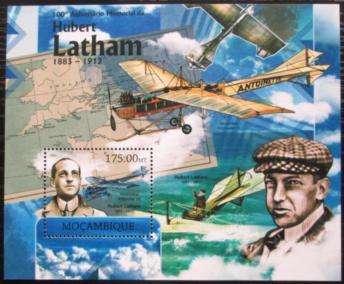 Poštovní známka Mosambik 2012 Hubert Latham Mi# Block 655 Kat 10€