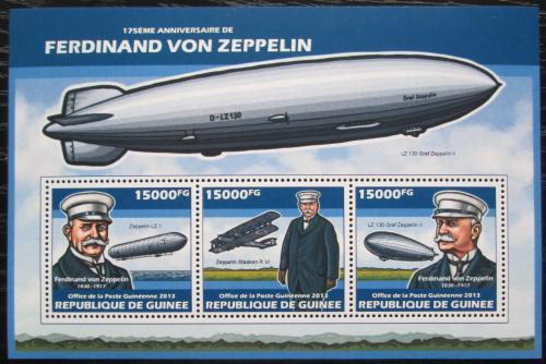 Poštovní známky Guinea 2013 Vzducholodì, Zeppelin Mi# 10129-31 Kat 18€