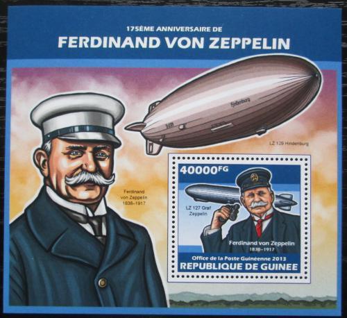 Poštovní známka Guinea 2013 Vzducholodì, Zeppelin Mi# Block 2309 Kat 16€