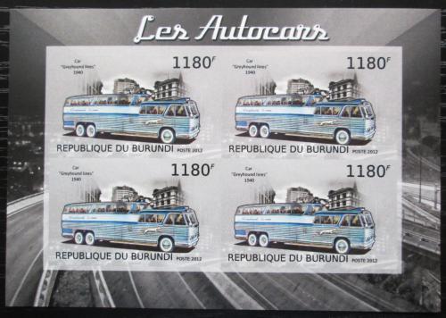 Poštovní známky Burundi 2012 Americký autobus Greyhound neperf. Mi# 2903 B Bogen