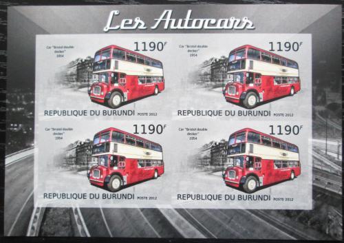 Poštovní známky Burundi 2012 Bristolský Doppeldecker neperf. Mi# 2904 B Bogen