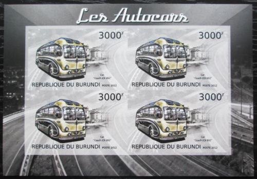 Poštovní známky Burundi 2012 Autobus Coach JCK 892 neperf. Mi# 2905 B Bogen