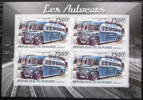 Poštovní známky Burundi 2012 Bristolský autobus LL6B neperf. Mi# 2907 B Bogen