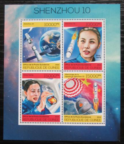 Poštovní známky Guinea 2014 Vesmírná mise Šen-èou 10 Mi# 10237-40 Kat 20€