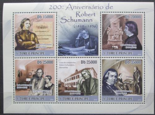 Poštovní známky Svatý Tomáš 2010 Robert Schumann Mi# 4649-53 Kat 12€