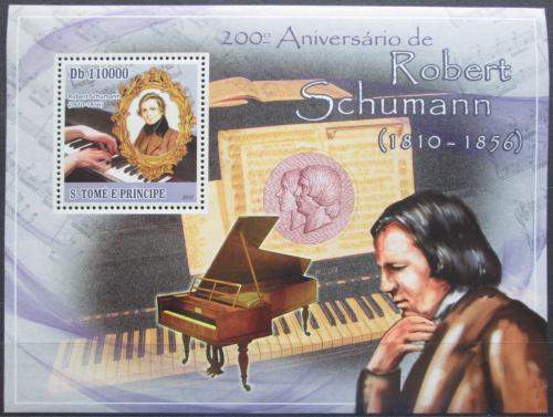 Poštovní známka Svatý Tomáš 2010 Robert Schumann Mi# Block 795 Kat 11€