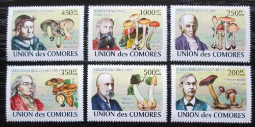 Poštovní známky Komory 2009 Houby a mykologové Mi# 2051-56 Kat 14€