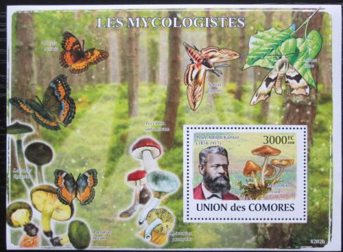 Poštovní známka Komory 2009 Petter Adolf Karsten, mykolog Mi# Block 465 Kat 15€