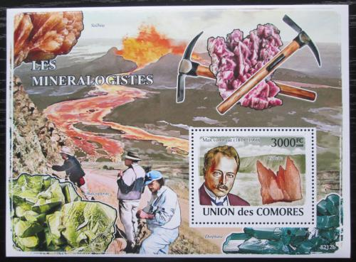 Poštovní známka Komory 2009 Max von Laue, mineralog Mi# Block 463 Kat 15€