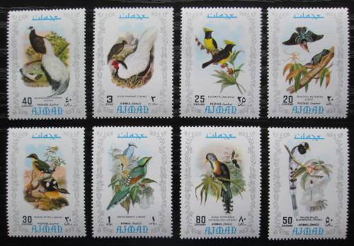 Poštovní známky Adžmán 1971 Ptáci Mi# 887-94