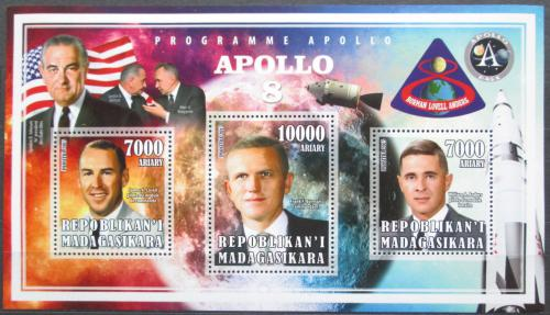 Poštovní známky Madagaskar 2015 Apollo 8, prùzkum Mìsíce Mi# N/N