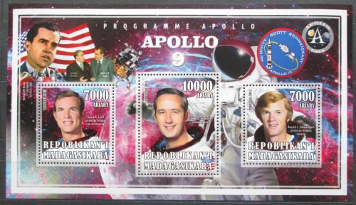 Poštovní známky Madagaskar 2015 Apollo 9, prùzkum Mìsíce Mi# N/N