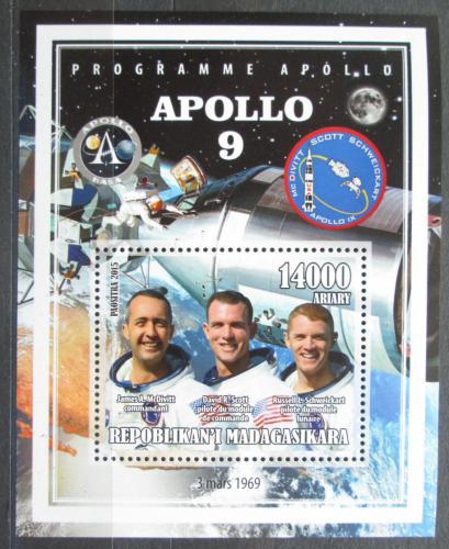 Poštovní známka Madagaskar 2015 Apollo 9, prùzkum Mìsíce Mi# N/N