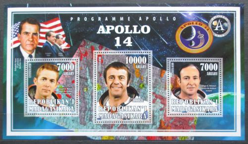 Poštovní známky Madagaskar 2015 Apollo 14, prùzkum Mìsíce Mi# N/N