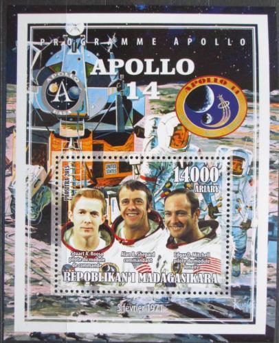 Poštovní známka Madagaskar 2015 Apollo 14, prùzkum Mìsíce Mi# N/N