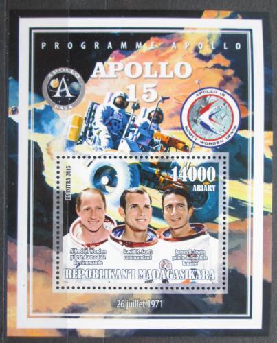 Poštovní známka Madagaskar 2015 Apollo 15, prùzkum Mìsíce Mi# N/N