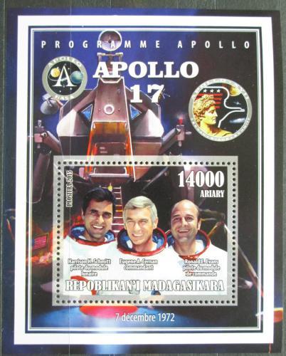 Poštovní známka Madagaskar 2015 Apollo 17, prùzkum Mìsíce Mi# N/N