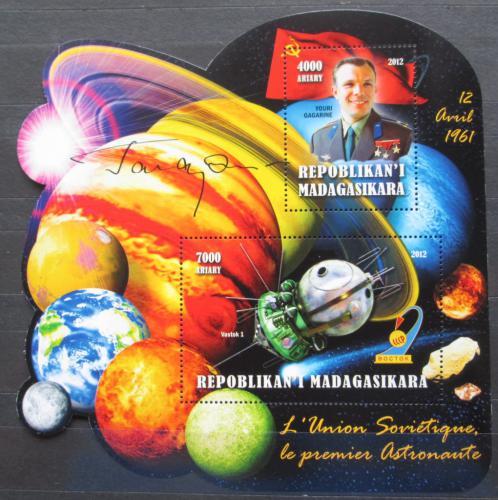 Poštovní známky Madagaskar 2012 Jurij Gagarin Mi# N/N
