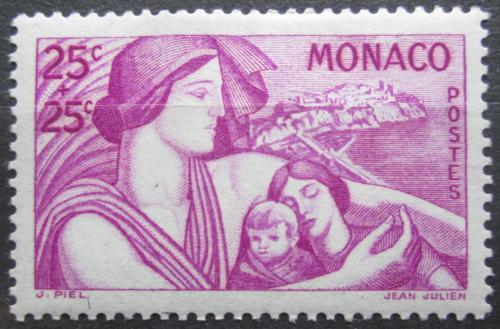 Poštovní známka Monako 1941 Matka s dítìtem Mi# 247