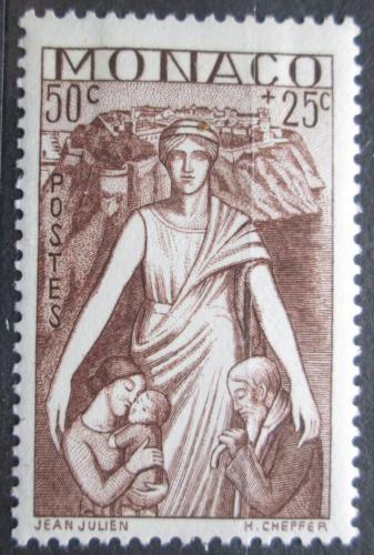 Poštovní známka Monako 1941 Matka s dìtmi Mi# 248