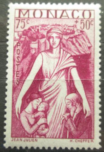 Poštovní známka Monako 1941 Matka s dìtmi Mi# 249