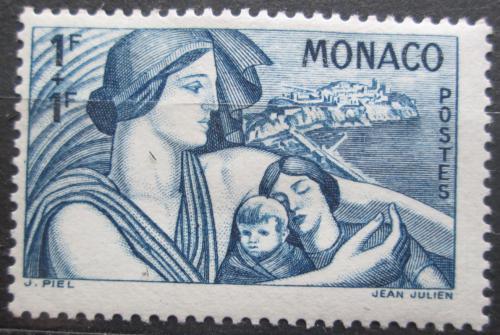 Poštovní známka Monako 1941 Matka s dìtmi Mi# 250