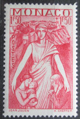 Poštovní známka Monako 1941 Matka s dìtmi Mi# 251