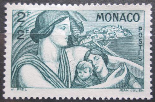 Poštovní známka Monako 1941 Matka s dìtmi Mi# 252 Kat 8€