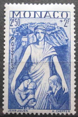 Poštovní známka Monako 1941 Matka s dìtmi Mi# 253 Kat 8€