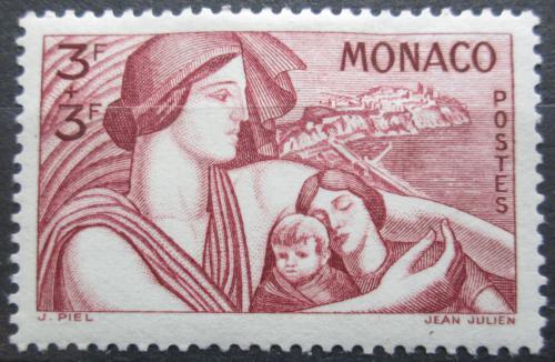 Poštovní známka Monako 1941 Matka s dìtmi Mi# 254 Kat 10€