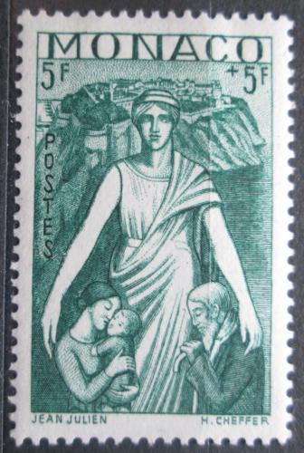 Poštovní známka Monako 1941 Matka s dìtmi Mi# 255 Kat 15€
