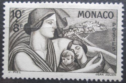 Poštovní známka Monako 1941 Matka s dìtmi Mi# 256 Kat 28€