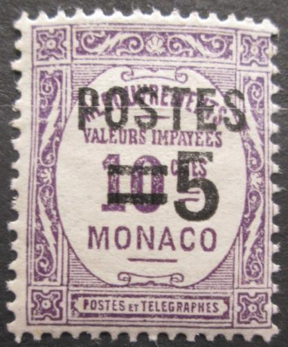 Poštovní známka Monako 1937 Doplatní pøetisk Mi# 149