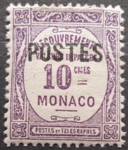 Poštovní známka Monako 1937 Doplatní pøetisk Mi# 150
