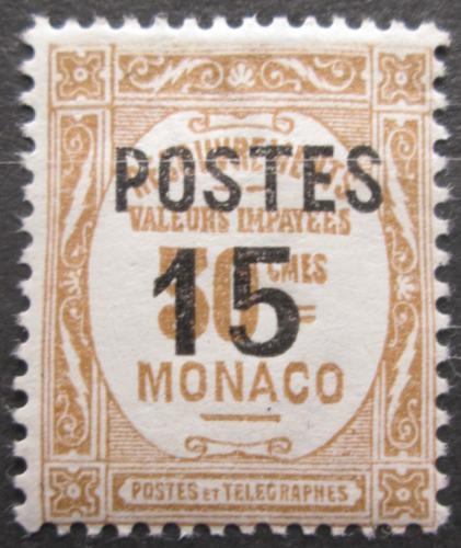 Poštovní známka Monako 1937 Doplatní pøetisk Mi# 151