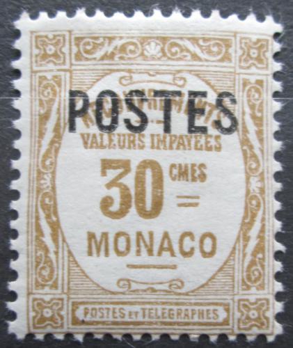 Poštovní známka Monako 1937 Doplatní pøetisk Mi# 154