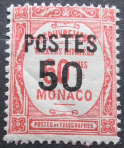 Poštovní známka Monako 1937 Doplatní pøetisk Mi# 156