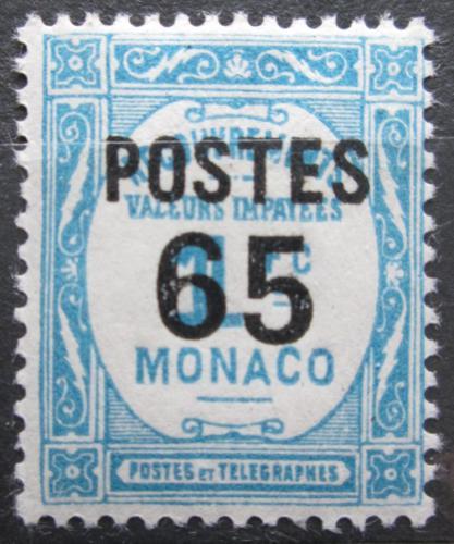 Poštovní známka Monako 1937 Doplatní pøetisk Mi# 157