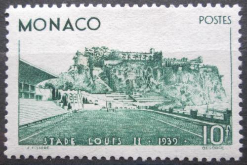 Poštovní známka Monako 1939 Stadión VELKÁ RARITA Mi# 189 Kat 170€