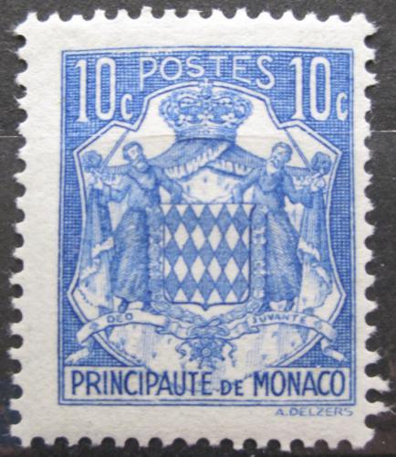 Poštovní známka Monako 1937 Státní znak Mi# 147