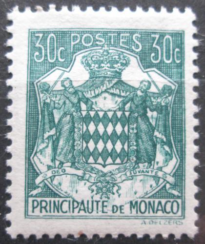 Poštovní známka Monako 1943 Státní znak Mi# 222