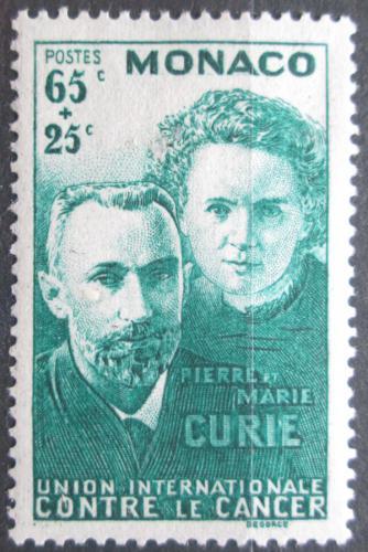 Poštovní známka Monako 1938 Pierre a Marie Curie Mi# 187 Kat 15€